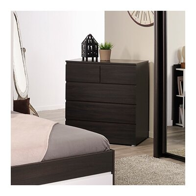Neo 5 Drawer Chest Color: Coffee