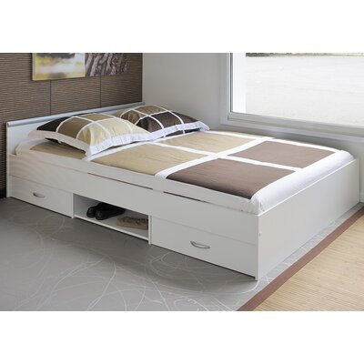 Torrence Full/Double Storage Platform Bed Size: Full/Double, Color: White