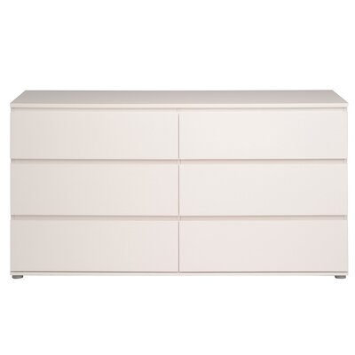 Neo 6 Drawer Chest Color: White