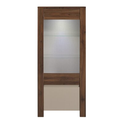 Tiago 60 H x 25 W x 15.7 D Glass Door Storage Cabinet