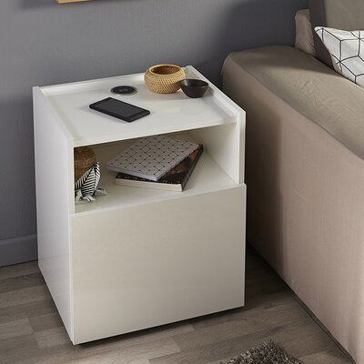 Hello Nightstand Finish: White