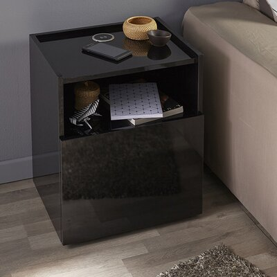 Hello Nightstand Finish: Black