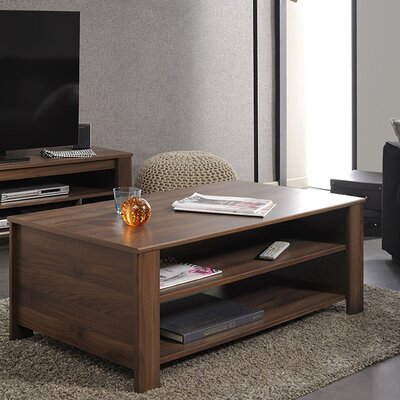 Tiago Coffee Table with Magazine Rack