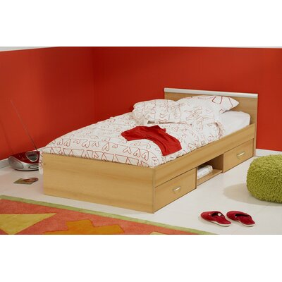 Torrence Full/Double Storage Platform Bed Size: Twin, Color: Natural