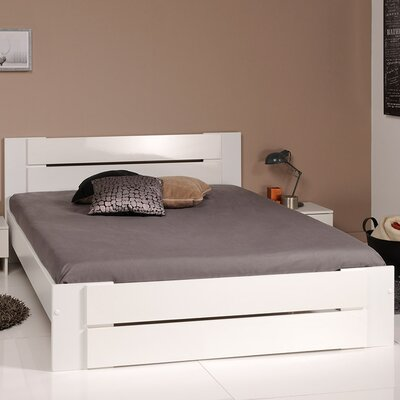 Bianca Queen Platform Bed Color: White