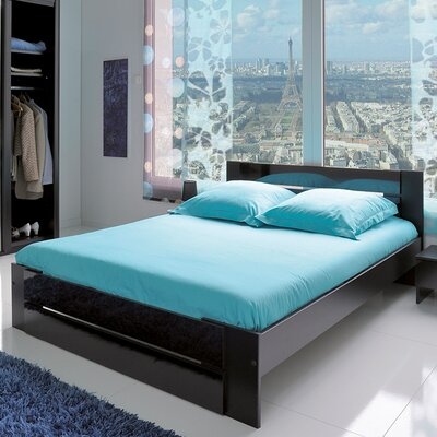 Bianca Queen Platform Bed Color: Black