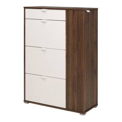 Prime 10-Pair Shoe Storage Cabinet Finish: Dark Walnut