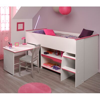 Moby Midsleeper Twin Mate Bed Color: Raspberry
