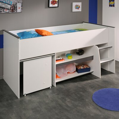 Moby Midsleeper Twin Mate Bed Color: Gray