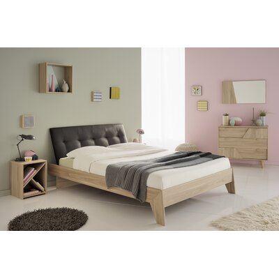 Swen Full/Double Upholstered Platform Bed Size: Full, Color: White
