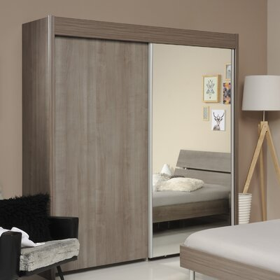 Kalen 2 Door Armoire Finish: Walnut