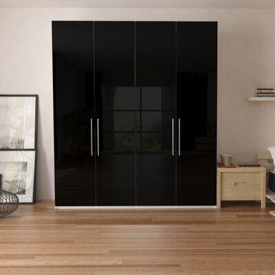 Optimeo Armoire Color: Black Gloss