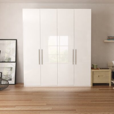 Optimeo Armoire Color: White Gloss