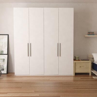 Optimeo Armoire Color: White Matt
