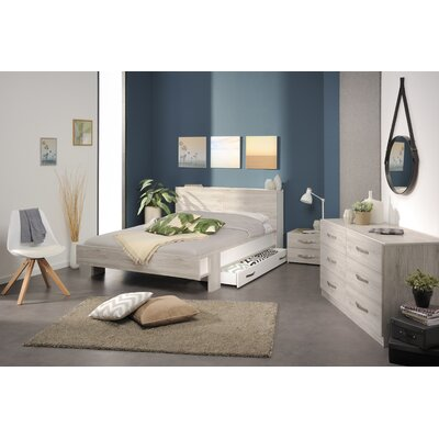 Caley Platform Bed Size: Queen, Color: Portofino Gray