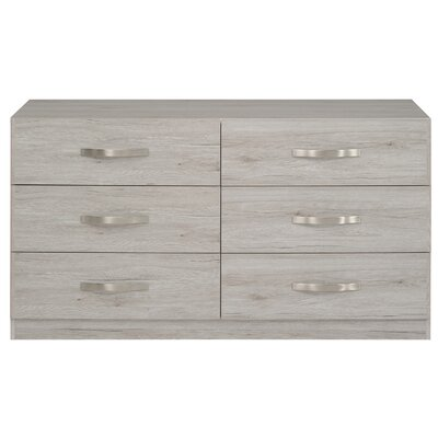 Caley 6 Drawer Double Dresser Color: Portofino Gray