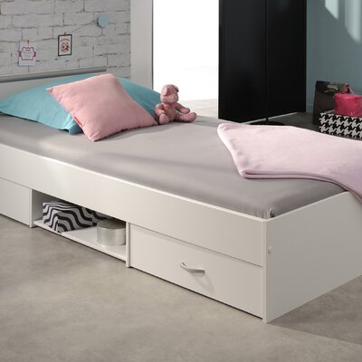 Torrence European Twin Platform Bed Color: White