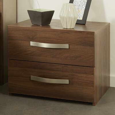 Caley 2 Drawer Nightstand Color: Brazilian Walnut