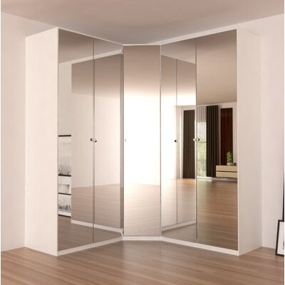 Landaverde Corner Wardrobe Armoire Color: Mirror