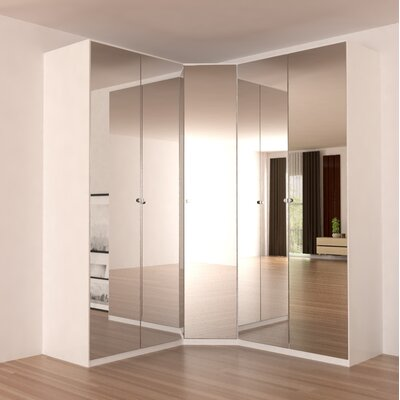 Landman Corner Wardrobe Armoire Color: Mirror