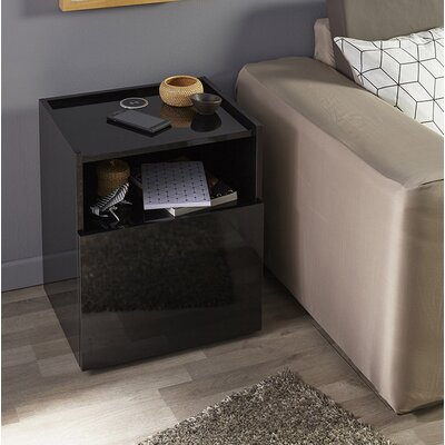 Hello Nightstand Color: Black