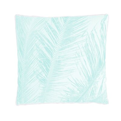 Sanctuary Palm Print Decorative Cotton Throw Pillow