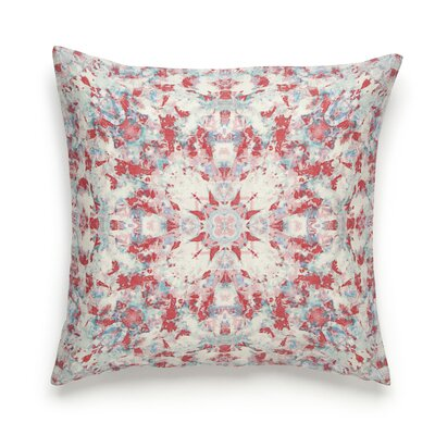 Painterly Cotton Throw Pillow