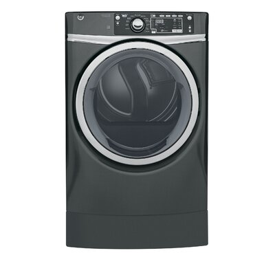 GE RightHeight Design Series  GFD49GRPKDG 28 Inch Gas Dryer and Front Load Washer Set 33433477