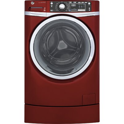 4.9 cu. ft. Energy Star� Front Load Washer with Steam Finish: Red GFW490RPKRR