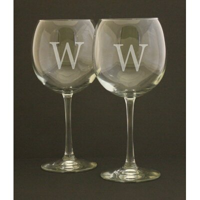 Personalized Wine Glasses WG-INITIAL