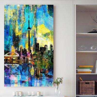 'Toronto Skyline Wonders 1' Graphic Art Print on Wrapped Canvas Size: 30