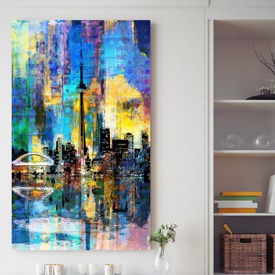 'Toronto Skyline Wonders 4' Graphic Art Print on Wrapped Canvas Size: 30