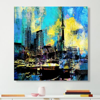 'Toronto Harbour 6' Graphic Art Print on Wrapped Canvas Size: 18