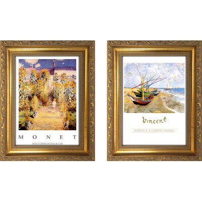 'Bateaux a Saintes maries' 2 Piece Framed Oil Painting Print Set