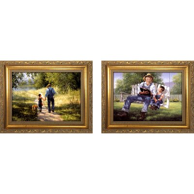 'Grandpa II' 2 Piece Framed Oil Painting Print Set