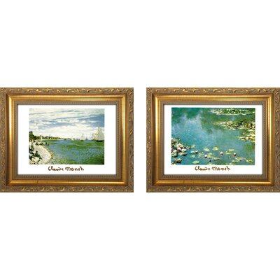 'Claude Monet I' 2 Piece Framed Oil Painting Print Set