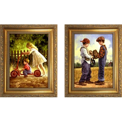 'Along for the Ride' 2 Piece Framed Painting Print Set