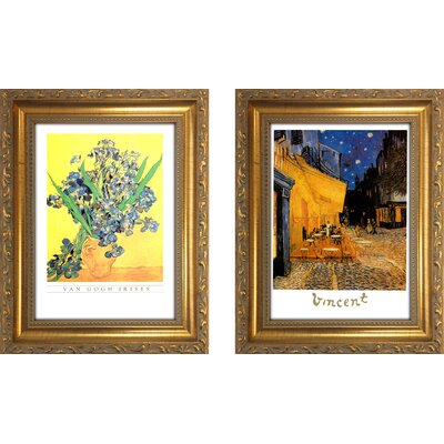 'Vincent Van Gogh II' 2 Piece Framed Oil Painting Print Set