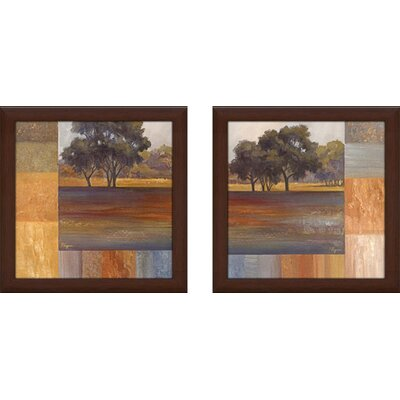 'Rhythms of Landscape' 2 Piece Framed Graphic Art Print Set on Canvas