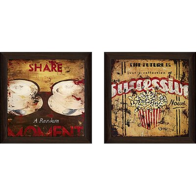 'Successive Nows' 2 Piece Framed Vintage Advertisement Set on Canvas