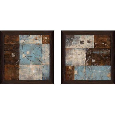 'Double Vision II' 2 Piece Framed Acrylic Painting Print Set Under Glass ANDV2033 42711681