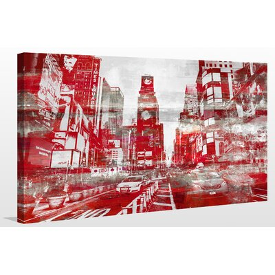 'Times Square III' Graphic Art Print on Canvas Size: 18