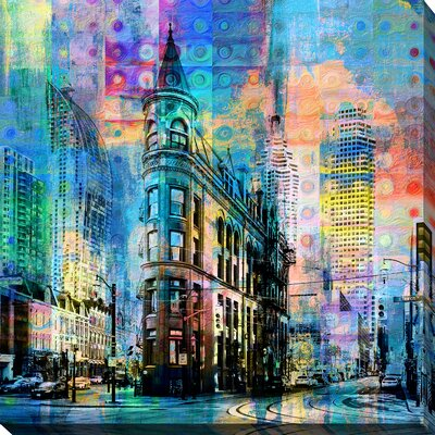 'Flatiron Building, Toronto' Graphic Art Print on Wrapped Canvas Size: 18