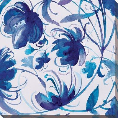 'Indigo Swirl I' Painting Print on Wrapped Canvas Size: 18