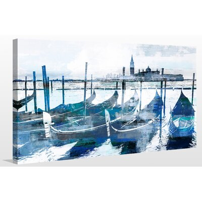 'Gondolas I' Graphic Art Print on Wrapped Canvas Size: 18
