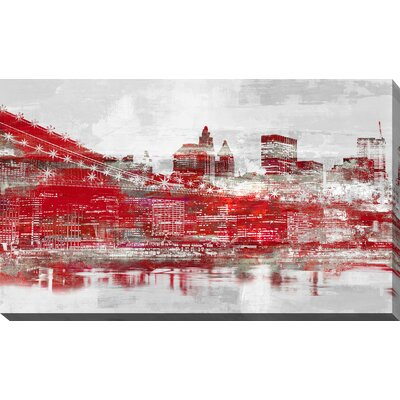 'Manhattan III' Graphic Art Print on Wrapped Canvas Size: 18