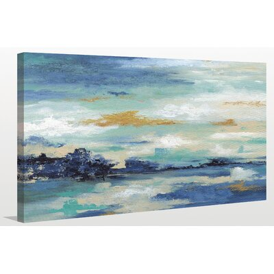 'Sea Isle I' Painting Print on Wrapped Canvas Size: 18