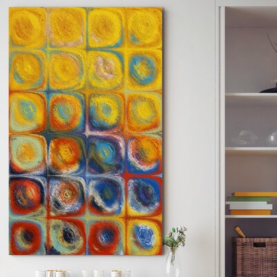 'Circles and Squares LIII' Painting Print on Wrapped Canvas Size: 30