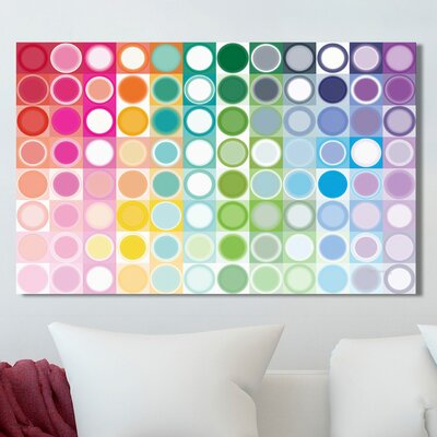 'Circles and Squares' Graphic Art Print on Wrapped Canvas Size: 18