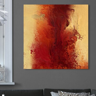 'The Road to Emmaus, Deuteronomy 4:12' Painting Print on Wrapped Canvas Size: 18